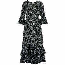 McVERDI - Checkered Smock Blouse With Collar