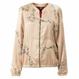 Castlebird Rose - Silk Bomber Jacket Sunset Gold