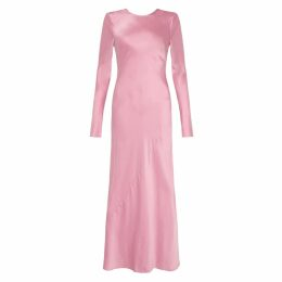 Nissa - Asymmetrical veil printed dress with lace inserts