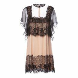 Nissa - Contrasting Details Lace Dress
