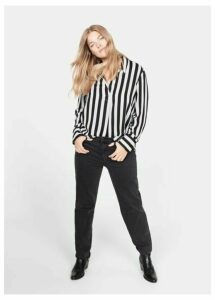 Striped modal blouse