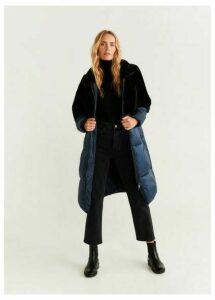 Combined fur coat
