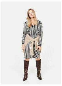 Striped satin dress