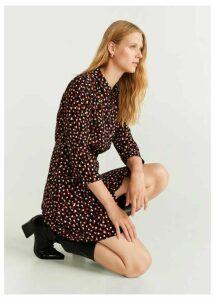 Printed shirt dress