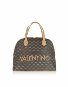 Valentino by Mario Valentino Designer Handbags, Liuto Signature Eco Leather Bowler Bag