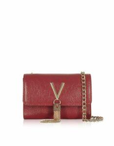 Valentino by Mario Valentino Designer Handbags, Oboe Shiny Eco Leather Shoulder Bag