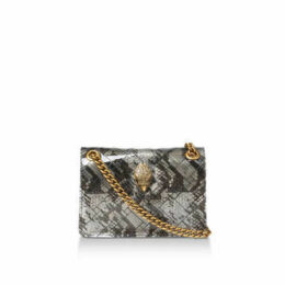 Kurt Geiger London Transparent Mini Ken - Transparent Snake Print Mini Shoulder Bag