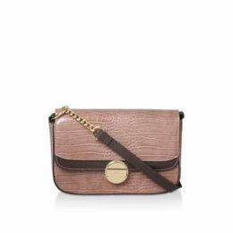 Carvela Faith Shoulder Bag - Pink Croc Print Shoulder Bag