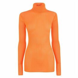 Victoria by Victoria Beckham Ribbed Turtle Neck Top