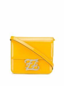 Fendi logo plaque shoulder bag - Yellow