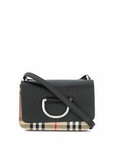 Burberry check D-ring bag - Black