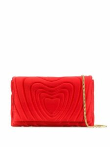 Escada quilted effect clutch bag - Red