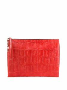 Marni logo charm clutch - Red