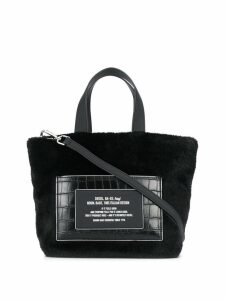 Diesel logo print tote bag - Black