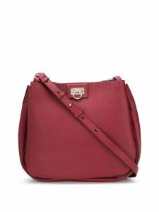 Salvatore Ferragamo Gancini motif shoulder bag - Red