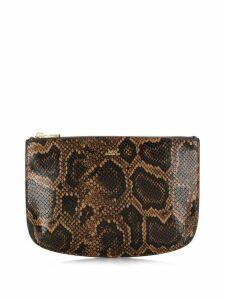 A.P.C. snakeskin effect clutch bag - Brown