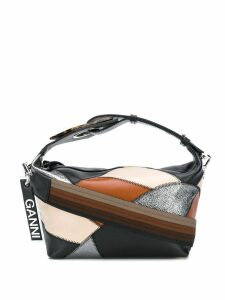 Ganni patchwork tote bag - Black