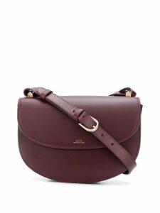 A.P.C. leather shoulder bag - Red