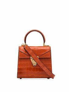 Stalvey crocodile-effect trapezoid tote bag - Pink