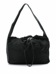 Kara drawstring shoulder bag - Black