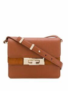 Elisabetta Franchi twist lock shoulder bag - Brown