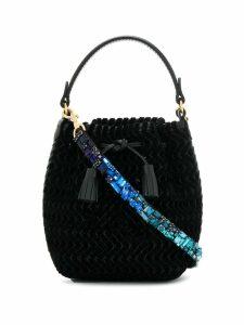 Anya Hindmarch embellished strap bucket bag - Black