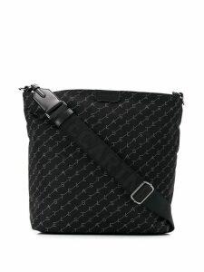 Stella McCartney monogram-print shoulder bag - Black