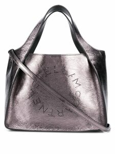 Stella McCartney small metallic logo tote