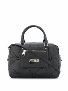 Versace Jeans Couture logo patch tote bag - Black