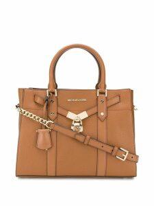 Michael Michael Kors leather padlock tote - Brown