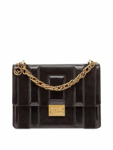 Fendi small Kan U shoulder bag - Black