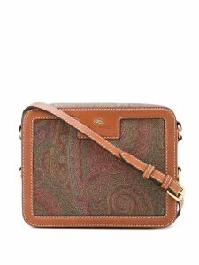 Etro paisley print shoulder bag - Brown