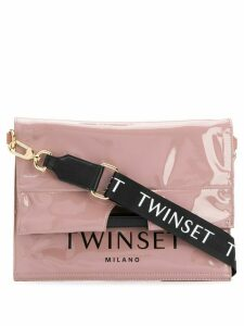 Twin-Set logo print tote - Pink