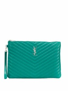 Saint Laurent Jolie monogram clutch bag - Green