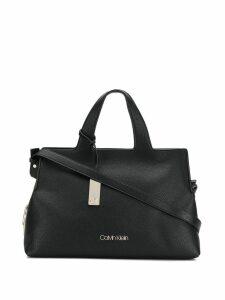 Calvin Klein logo plaque tote - Black