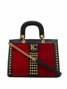 La Carrie studded tote bag - Red