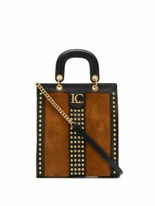 La Carrie studded tote bag - Brown