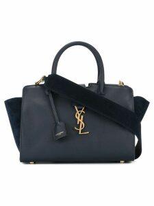 Saint Laurent baby Monogram Downtown Cabas YSL bag - Blue
