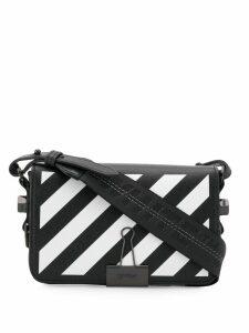 Off-White Diag Binder Clip cross body bag - Black