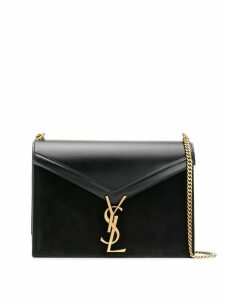 Saint Laurent Cassandra monogram logo shoulder bag - Black
