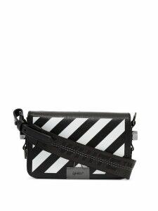 Off-White diagonal stripe cross-body bag - Black