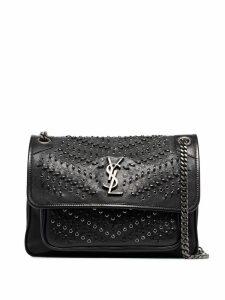 Saint Laurent Niki woven shoulder bag - Black