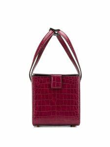 Eudon Choi crocodile effect tote bag - Red