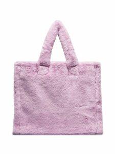 STAND STUDIO Lolita faux-fur tote bag - Purple