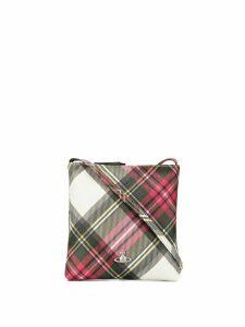 Vivienne Westwood plaid pattern crossbody bag - Neutrals