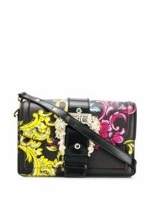 Versace Jeans Couture floral print shoulder bag - Black