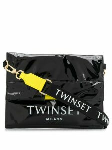 Twin-Set logo print tote - Black