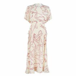 Victoria Beckham Chain Print Midi Dress