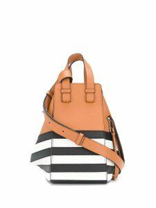 Loewe striped Hammock tote bag - Brown
