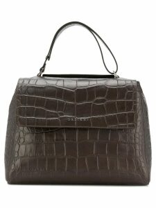 Orciani croc handbag - Brown
